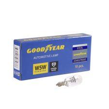 Лампа накаливания автомобильная Goodyear W5W 12V 5W W2.1x9.5d (коробка 10 шт)