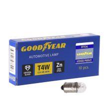 Лампа накаливания автомобильная Goodyear T4W 12V 4W BA9s  (коробка 10 шт)