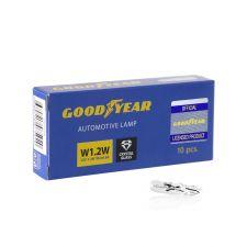 Лампа накаливания автомобильная Goodyear W1.2W 12V 1.2W W2x4.6d (коробка 10 шт)