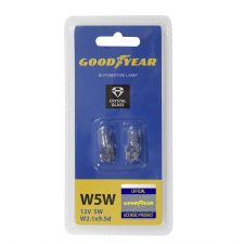 Лампа накаливания автомобильная Goodyear W5W 12V 5W W2.1x9.5d (блистер: к-т 2 шт)