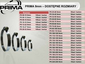 Хомут металлический PRIMA 9 мм